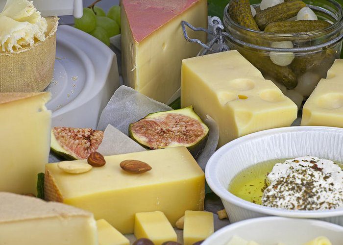 Cheese Greeting Card featuring the photograph Cheese Plate by Joana Kruse