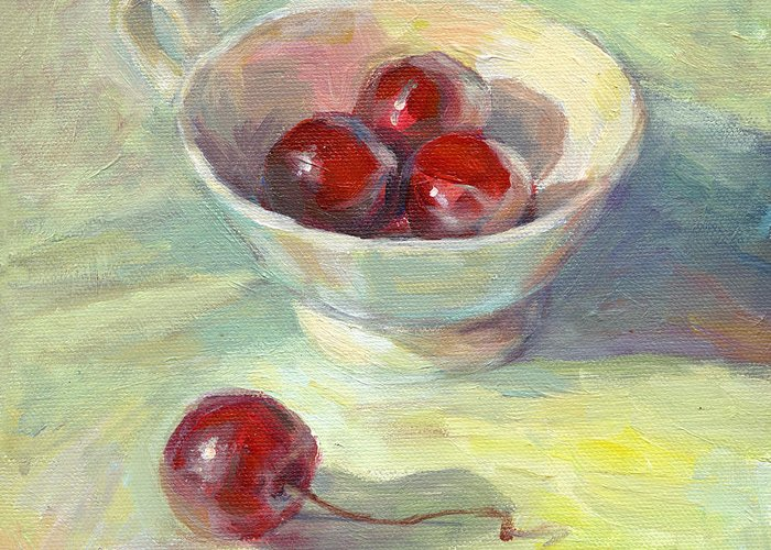 Cherry Drawings Greeting Cards