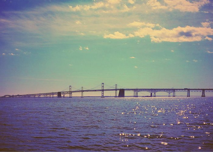 Chesapeake Bay Greeting Card featuring the photograph Chesapeake Bay Bridge by Paul Kercher