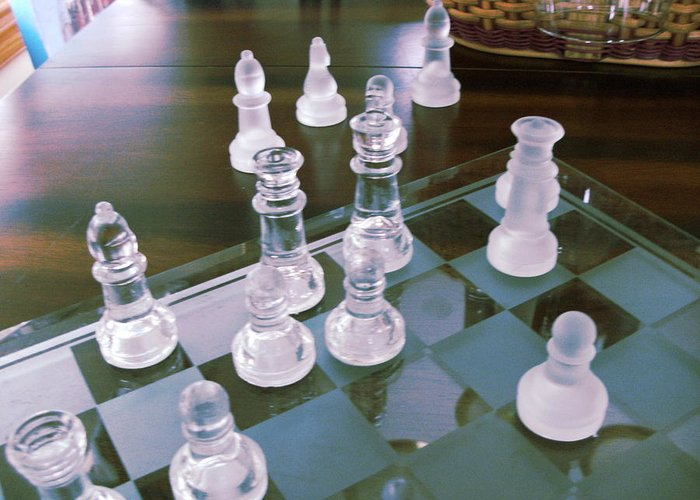 Chess Greeting Card featuring the photograph Chess Is Not For Sissies by Anne-Elizabeth Whiteway