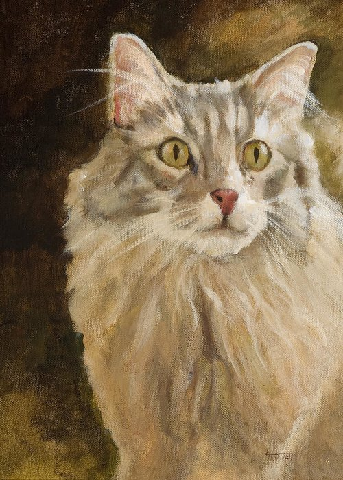 Animal Greeting Card featuring the painting Chessie by Jimmie Trotter