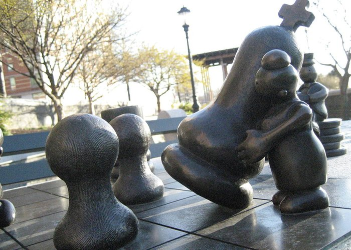 Statue Park Greeting Card featuring the photograph Chessmen by Ariadne Sandbeck