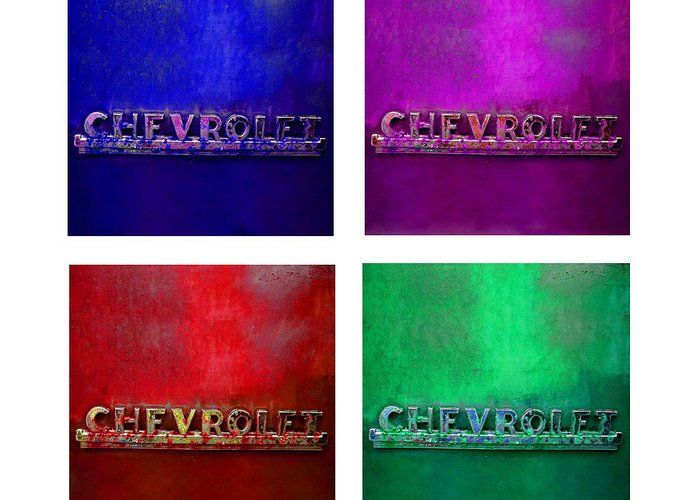 Chevy Greeting Card featuring the photograph Chevrolet Four by Tina B Hamilton