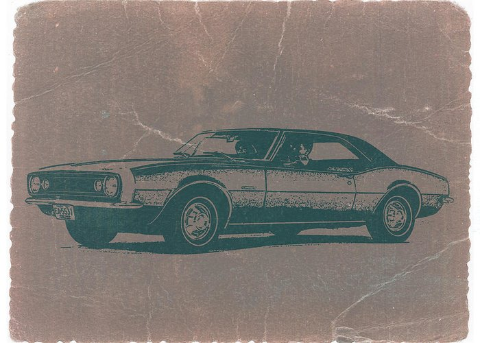 1968 Chevy Camaro Greeting Card featuring the photograph Chevy Camaro by Naxart Studio