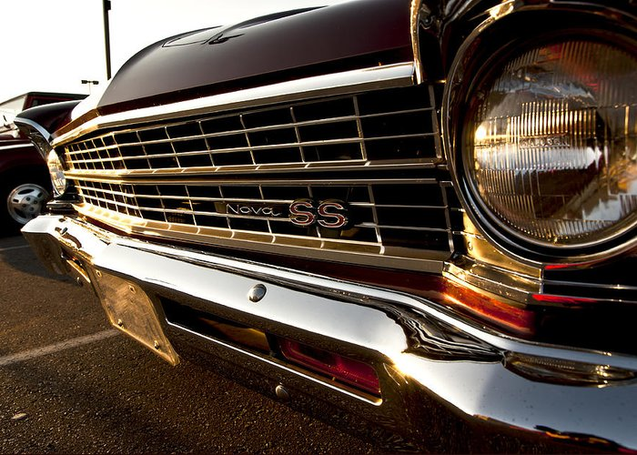 Chevy Greeting Card featuring the photograph Chevy Nova Ss by Cale Best