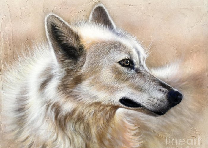 Acrylic Greeting Card featuring the painting Cheyenne by Sandi Baker