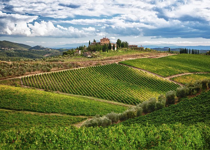Architecture Greeting Card featuring the photograph Chianti Landscape by Eggers  Photography