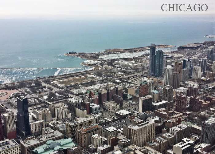 Chicago Greeting Card featuring the digital art Chicago 2 by Jim Richardson