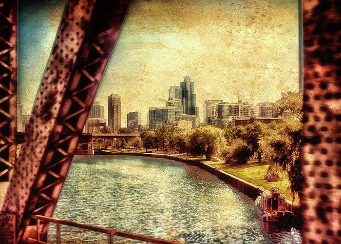 Chicago Greeting Card featuring the photograph Chicago Approaching The City In June Textured by Thomas Woolworth