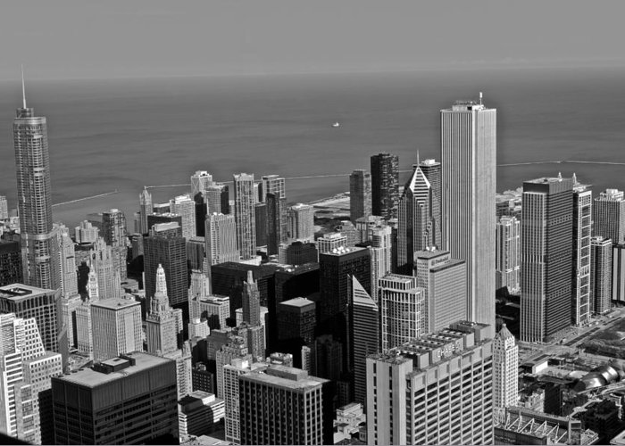 Chicago Greeting Card featuring the photograph Chicago Birdview by Miranda Miranda
