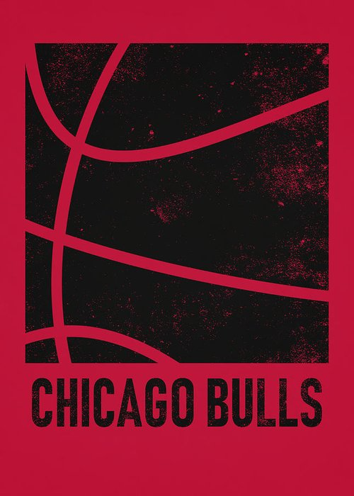 Bulls Greeting Card featuring the mixed media Chicago Bulls City Poster Art 2 by Joe Hamilton