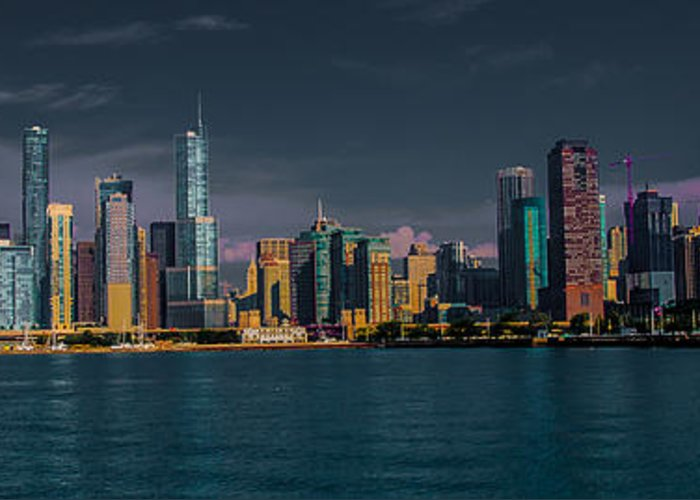 Chicago Greeting Card featuring the photograph Chicago Cityscape by Jim DeLillo