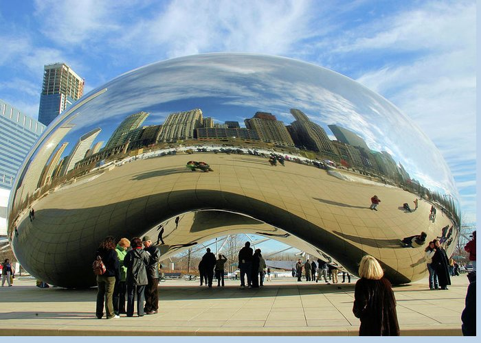 Chicago Greeting Card featuring the photograph Chicago Reflected by Kristin Elmquist