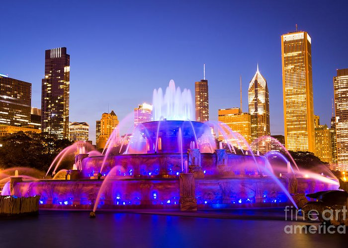 Buckingham Fountain Greeting Cards