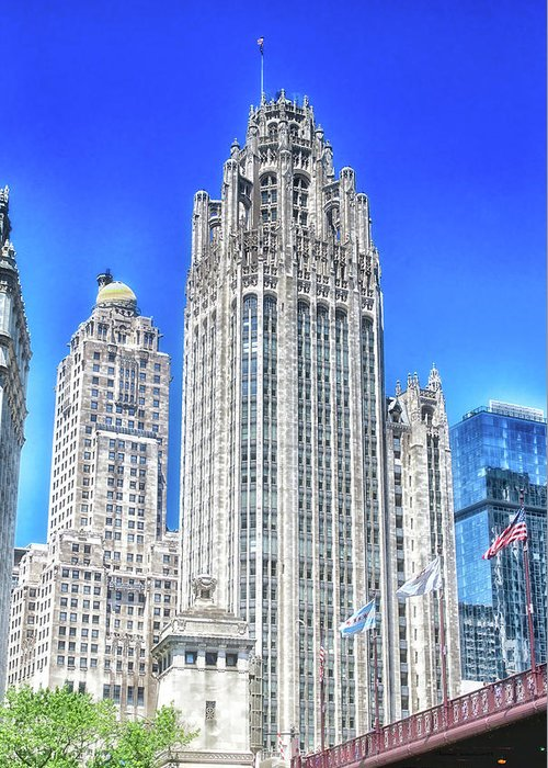 Cities Greeting Card featuring the photograph Chicago The Gothic Tribune Tower by Thomas Woolworth