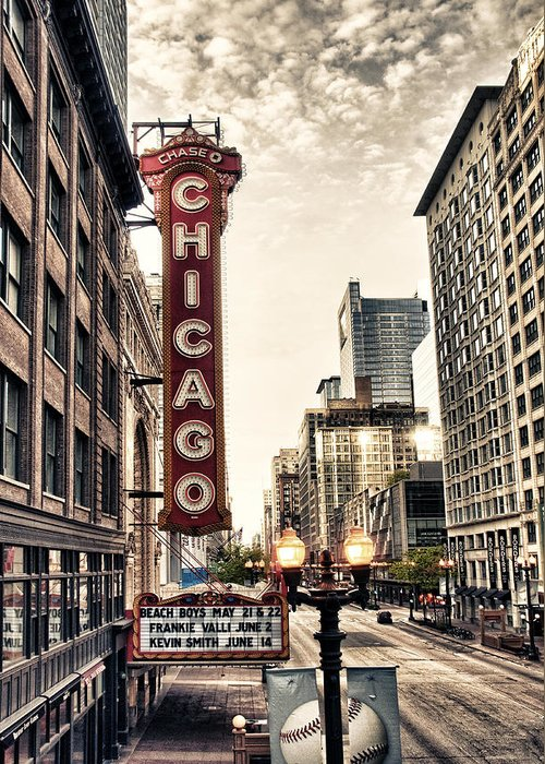 Chicago Greeting Card featuring the photograph Chicago Theater by Tammy Wetzel