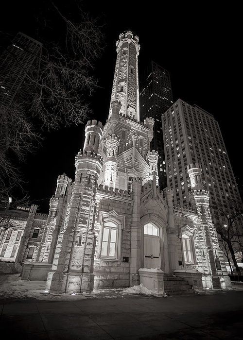 3scape Photos Greeting Card featuring the photograph Chicago Water Tower by Adam Romanowicz