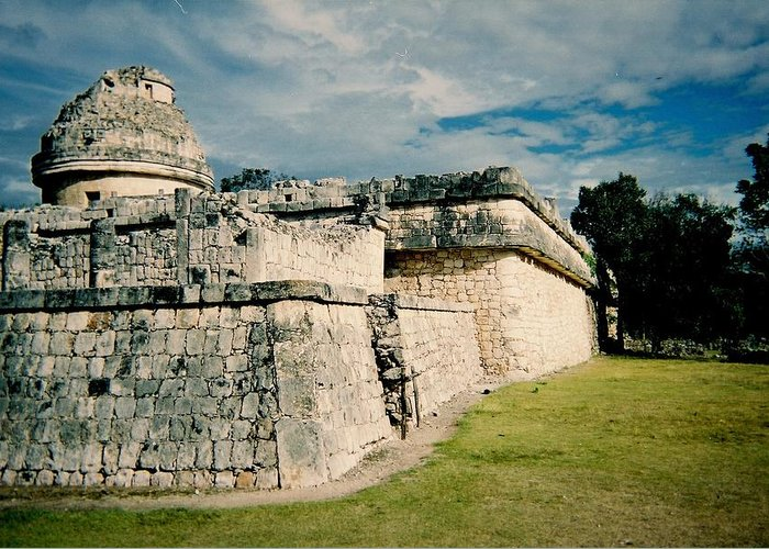 Chitchen Itza Greeting Card featuring the photograph Chichen Itza 1 by Anita Burgermeister