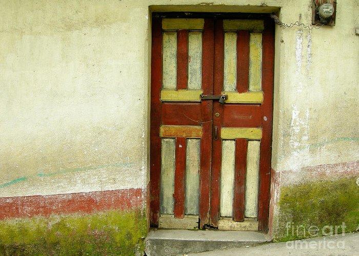 Door Greeting Card featuring the photograph Chichi Door by Derek Selander