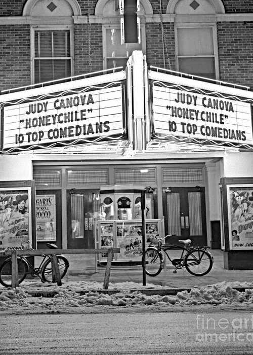 Oklahoma Greeting Card featuring the photograph Chief Theater by Larry Keahey