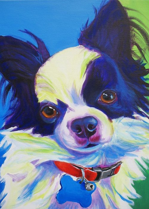 Chihuahua Greeting Card featuring the painting Chihuahua - Esso-gomez by Alicia VanNoy Call