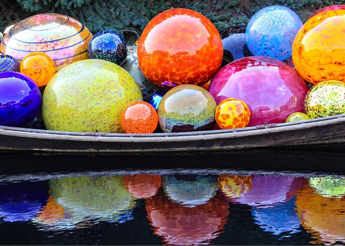 Art Greeting Card featuring the photograph Chihuly Exhibit At The Denver Botanic Gardens by Becky Canterbury