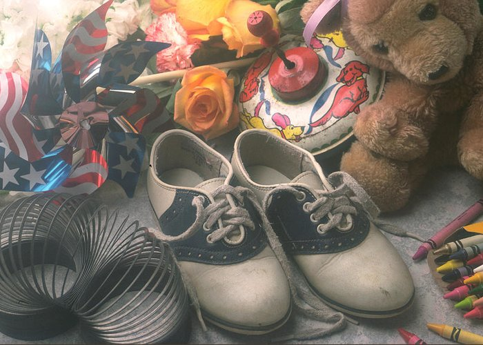 Shoes Shoe Greeting Card featuring the photograph Childhood Memories by Garry Gay