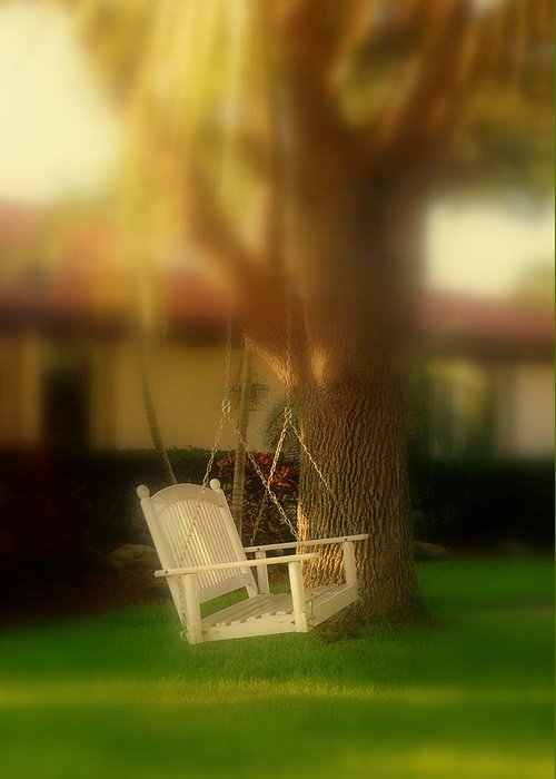 Swing Greeting Card featuring the photograph Childhood Memories by Susanne Van Hulst