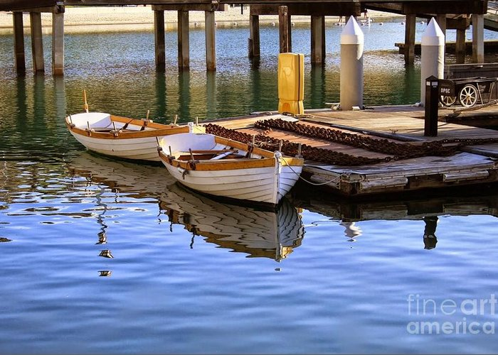 Boat Greeting Card featuring the photograph Chillin by Heather Gaines