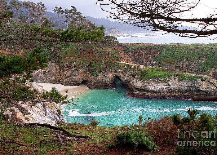 China Cove Greeting Card featuring the photograph China Cove At Point Lobos by Charlene Mitchell