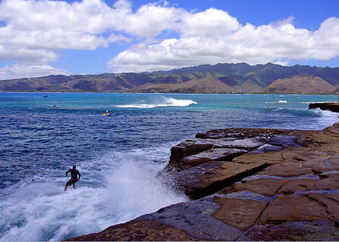 Hawaii Greeting Card featuring the photograph China Walls by Kevin Smith