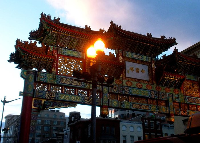 Chinatown Greeting Card featuring the photograph Chinatown Washington Dc by Wayne Higgs