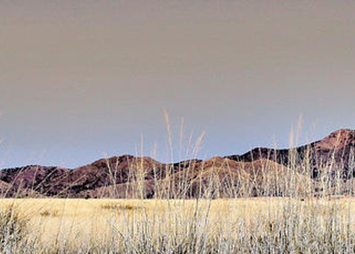 Landscape Greeting Card featuring the photograph Chiracahuas Panorama by Sharon Broucek