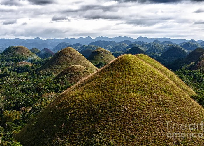 Asia Greeting Card featuring the photograph Chocolate Hills by Joerg Lingnau