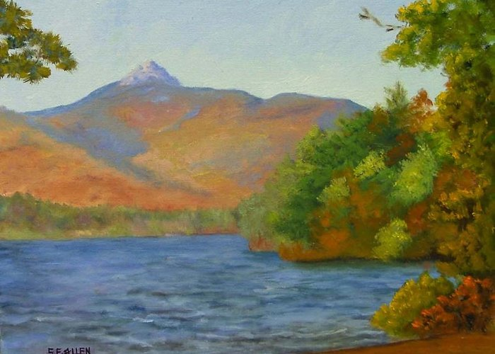 Mount Chocorua And Chocorua Lake Greeting Card featuring the painting Chocorua by Sharon E Allen