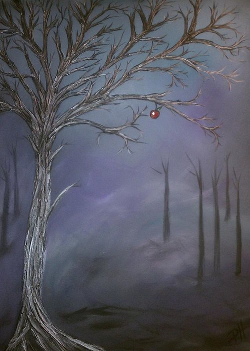 Tree Greeting Card featuring the painting Choice V by Patti Spires Hamilton