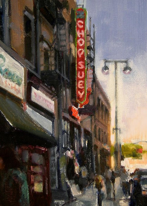 Restaurant Greeting Card featuring the painting Chop Suey by Merle Keller