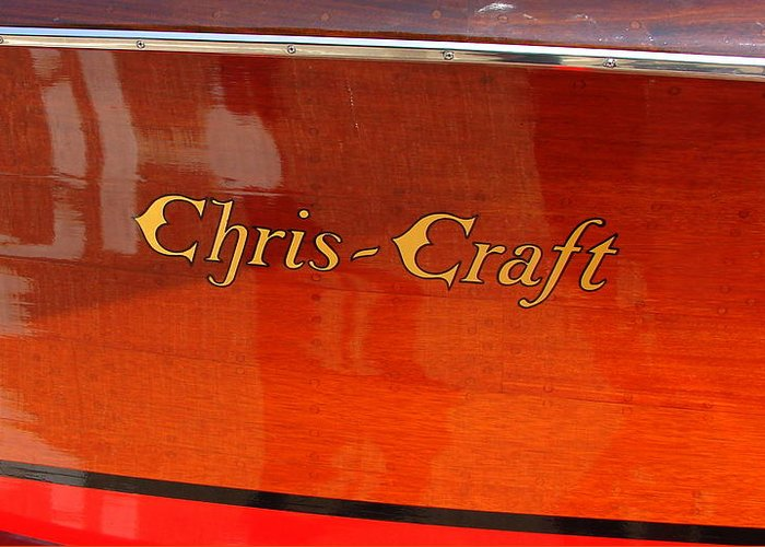 Logo Greeting Card featuring the photograph Chris Craft Logo by Michelle Calkins