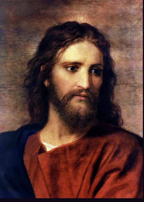 Jesus Prints Greeting Card featuring the painting Christ At 33 by Heinrich Hofmann