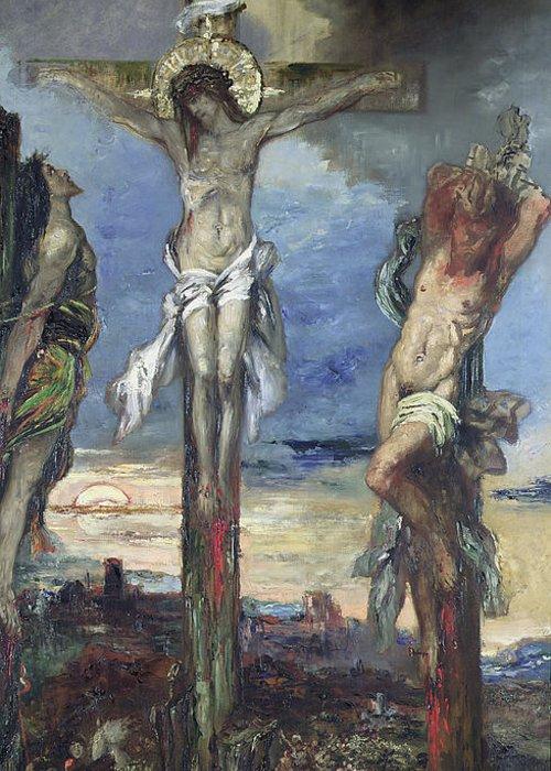 Résultats de recherche d'images pour «Gustave Moreau. Le christ et les deux larrons.»