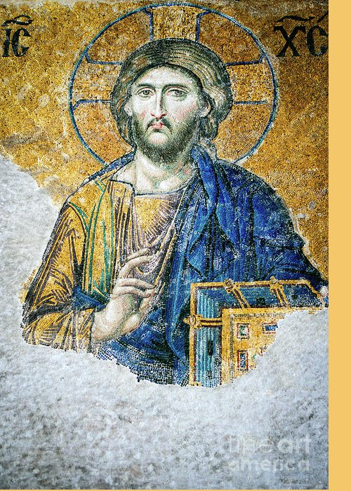 Christ Greeting Card featuring the photograph Christ Pantocrator by Dean Harte