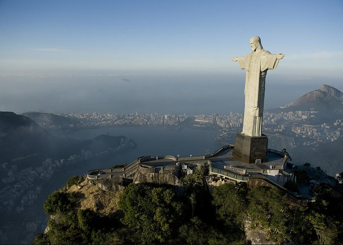 Outdoors Greeting Card featuring the photograph Christ The Redeemer Statue by Joel Sartore