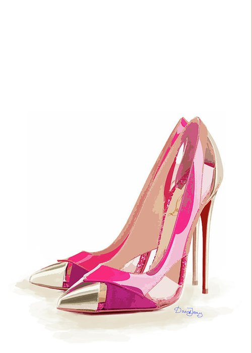 new concept e2600 8f1ce Christian Louboutin Shoes Pink Greeting Card