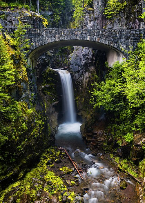 Christine Falls Greeting Card featuring the photograph Christine Falls - Mount Rainer National Park by Stephen Stookey