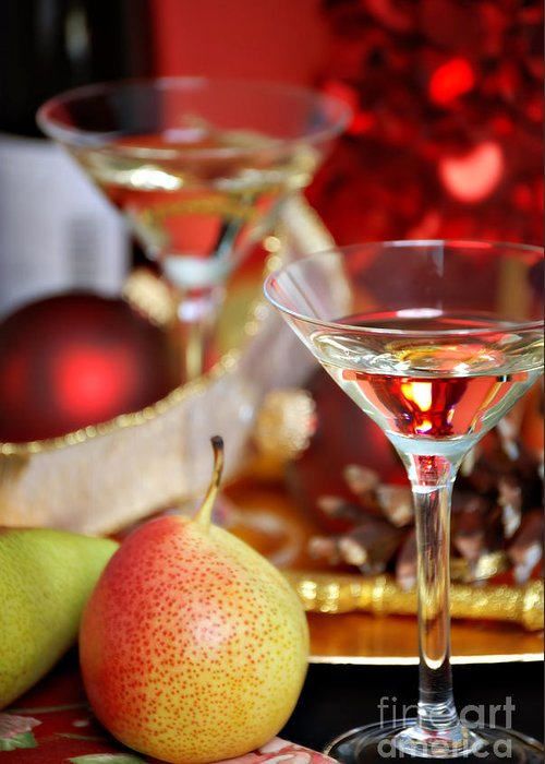Alcohol Greeting Card featuring the photograph Christmas Cocktails by HD Connelly