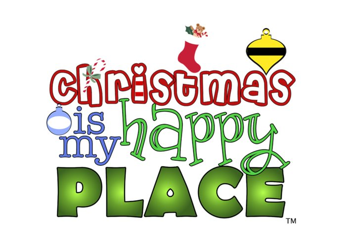 Christmas Greeting Card featuring the digital art Christmas Is My Happy Place by Shelley Overton