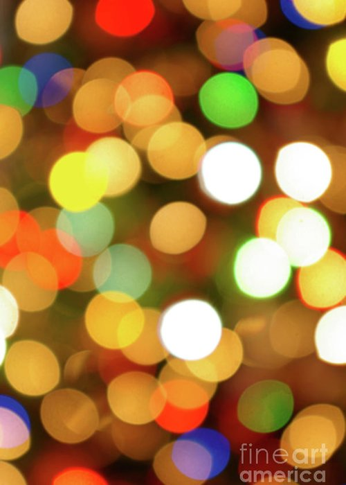 Abstract Greeting Card featuring the photograph Christmas Lights by Carlos Caetano