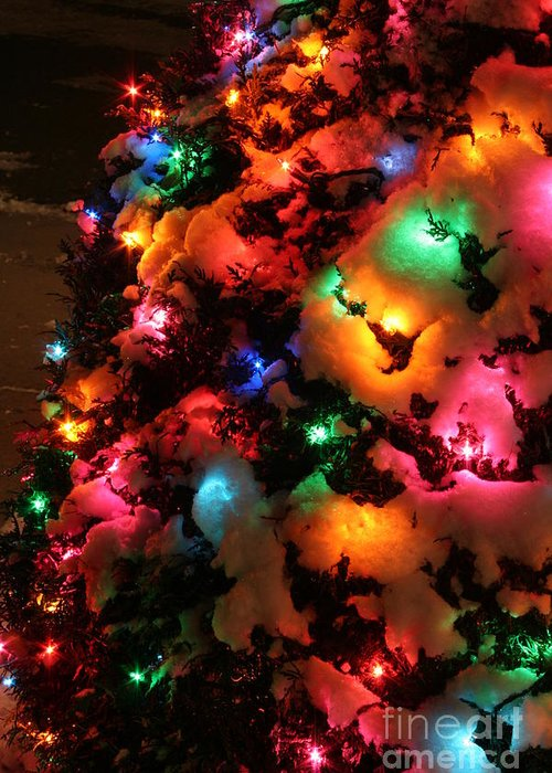twas the night before christmas greeting card featuring the photograph christmas lights coldplay by wayne moran
