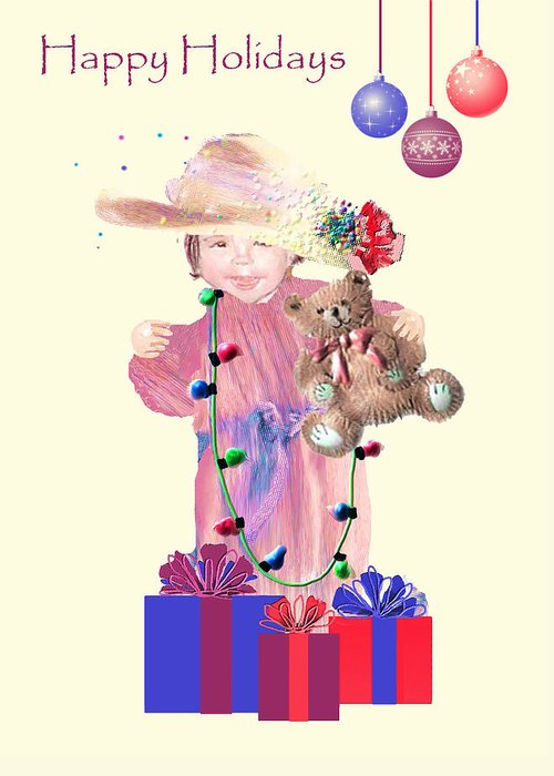 Christmas Greeting Card featuring the digital art Christmas Morning by Arline Wagner