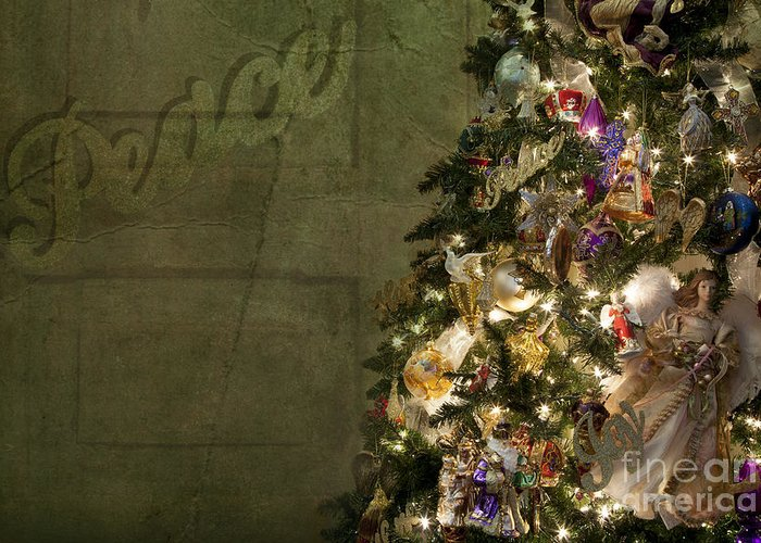 Tree Greeting Card featuring the photograph Christmas Peace by Eric Chegwin
